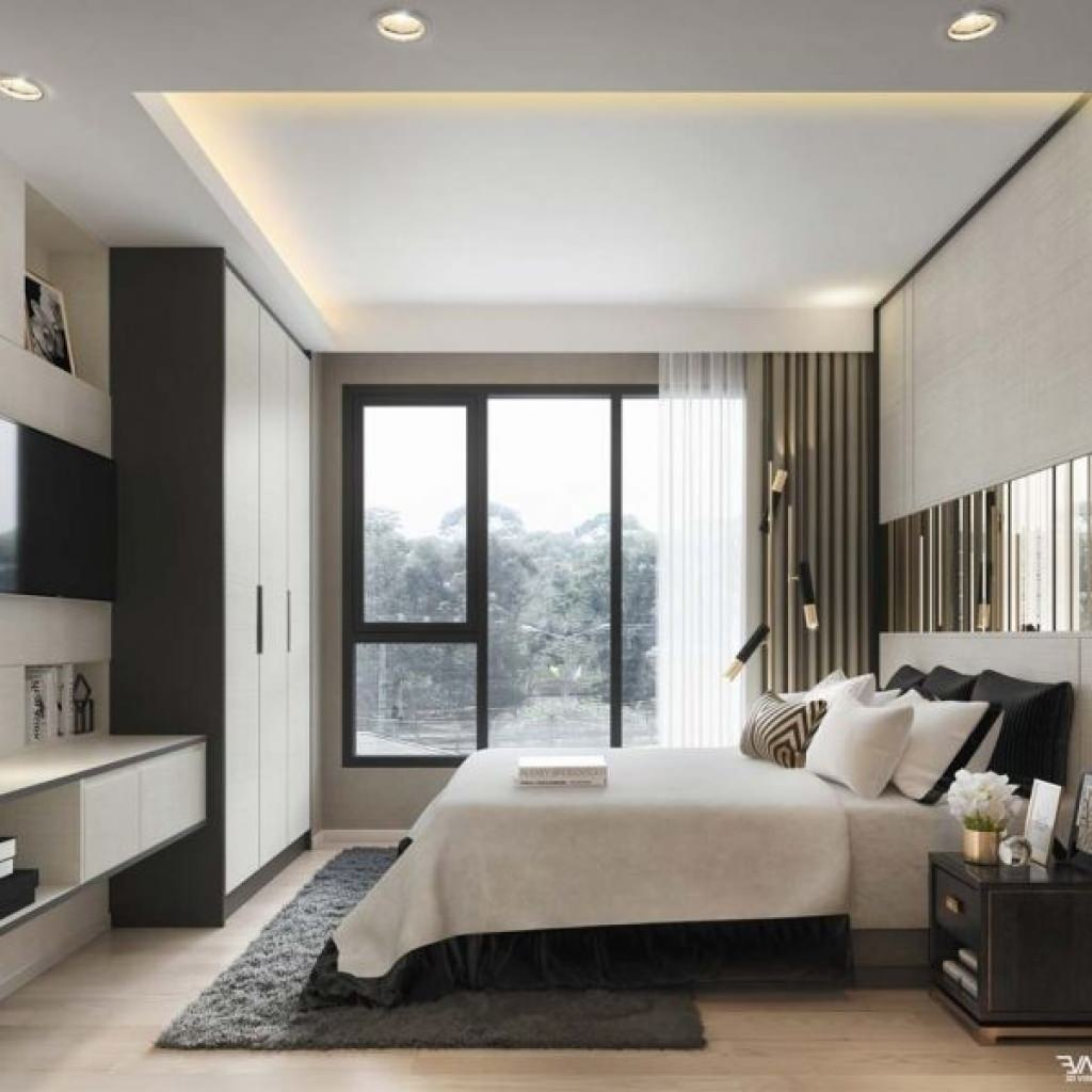 Contemporary Bedroom Lighting Bedroom Interior For Couples Black And White Tiles In Bedroom Bedroom Furniture Black: 100 Idee Camere Da Letto Moderne • Colori, Illuminazione, Arredo Camera Moderna • Start Preventivi