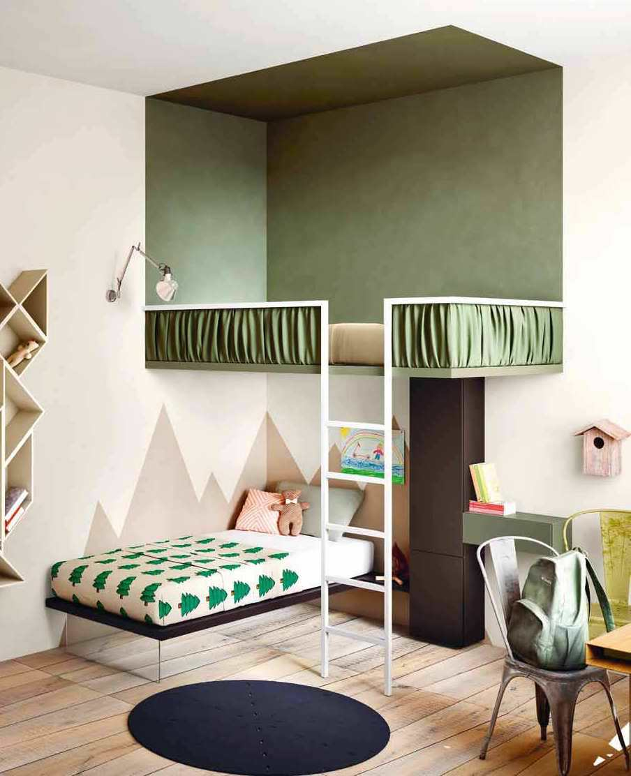 cameretta dei bambini 70 idee moderne e originali per. Black Bedroom Furniture Sets. Home Design Ideas