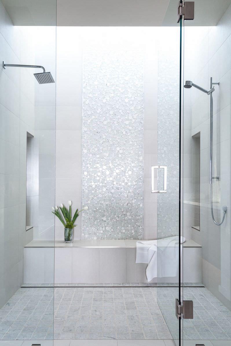 Bagno Con Mosaico Bianco 100 idee bagni moderni da sogno • colori, idee, piastrelle