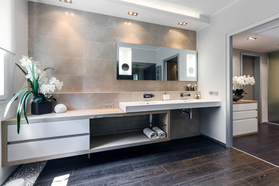 Bagno Moderno Con Pavimento Effetto Legno.100 Idee Bagni Moderni Da Sogno Colori Idee Piastrelle