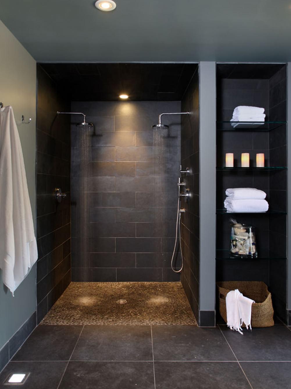 Bagno in muratura 50 idee per bagni moderni classici e for Bagno moderno doccia