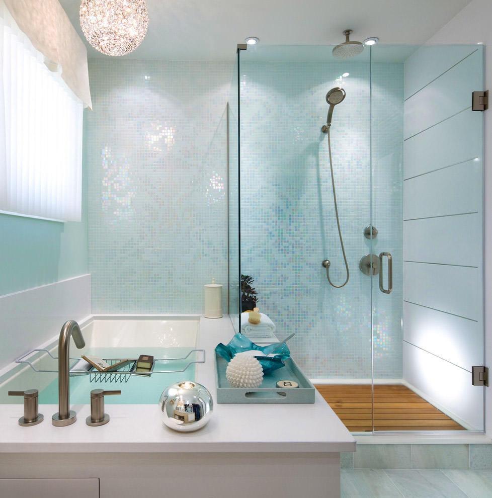 Bagno Con Mosaico Bianco 40 idee per un bagno blu e bianco • piastrelle, pavimenti e