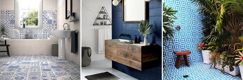 40 Idee Per Un Bagno Blu E Bianco Design E Abbinamento Colori