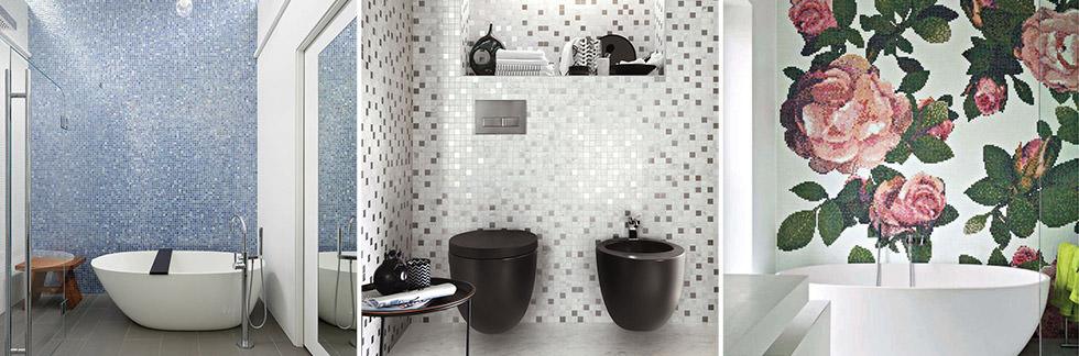 Realizzazione Di Bagni Moderni.Bagno Con Pavimenti E Rivestimenti In Mosaico 100 Idee
