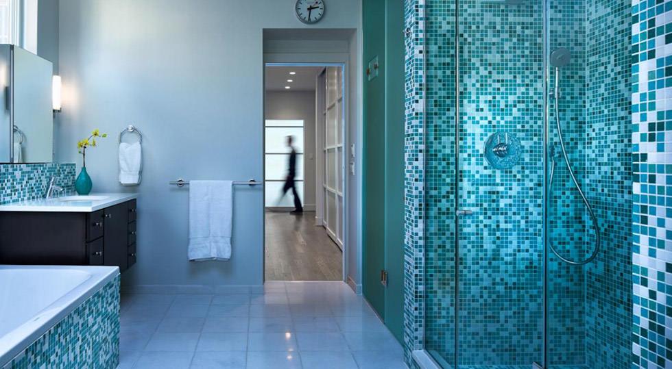 Bagni Moderni Con Mosaico.Bagno Con Pavimenti E Rivestimenti In Mosaico 100 Idee