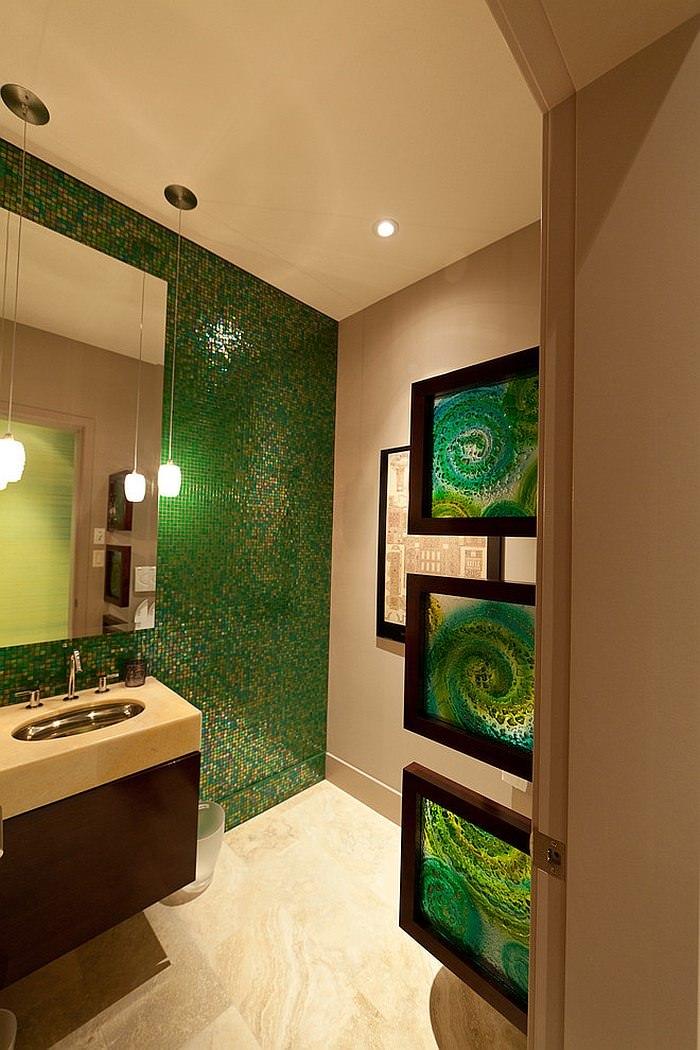 Bagno Con Pavimenti E Rivestimenti In Mosaico 100 Idee Bagni