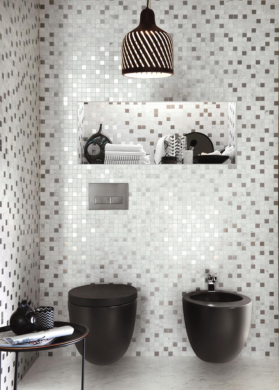 Bagno Moderno Mosaico Bianco E Nero