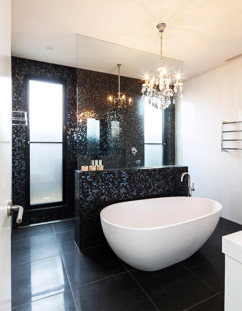 Bagno Mosaico Nero.Bagno Con Pavimenti E Rivestimenti In Mosaico 100 Idee
