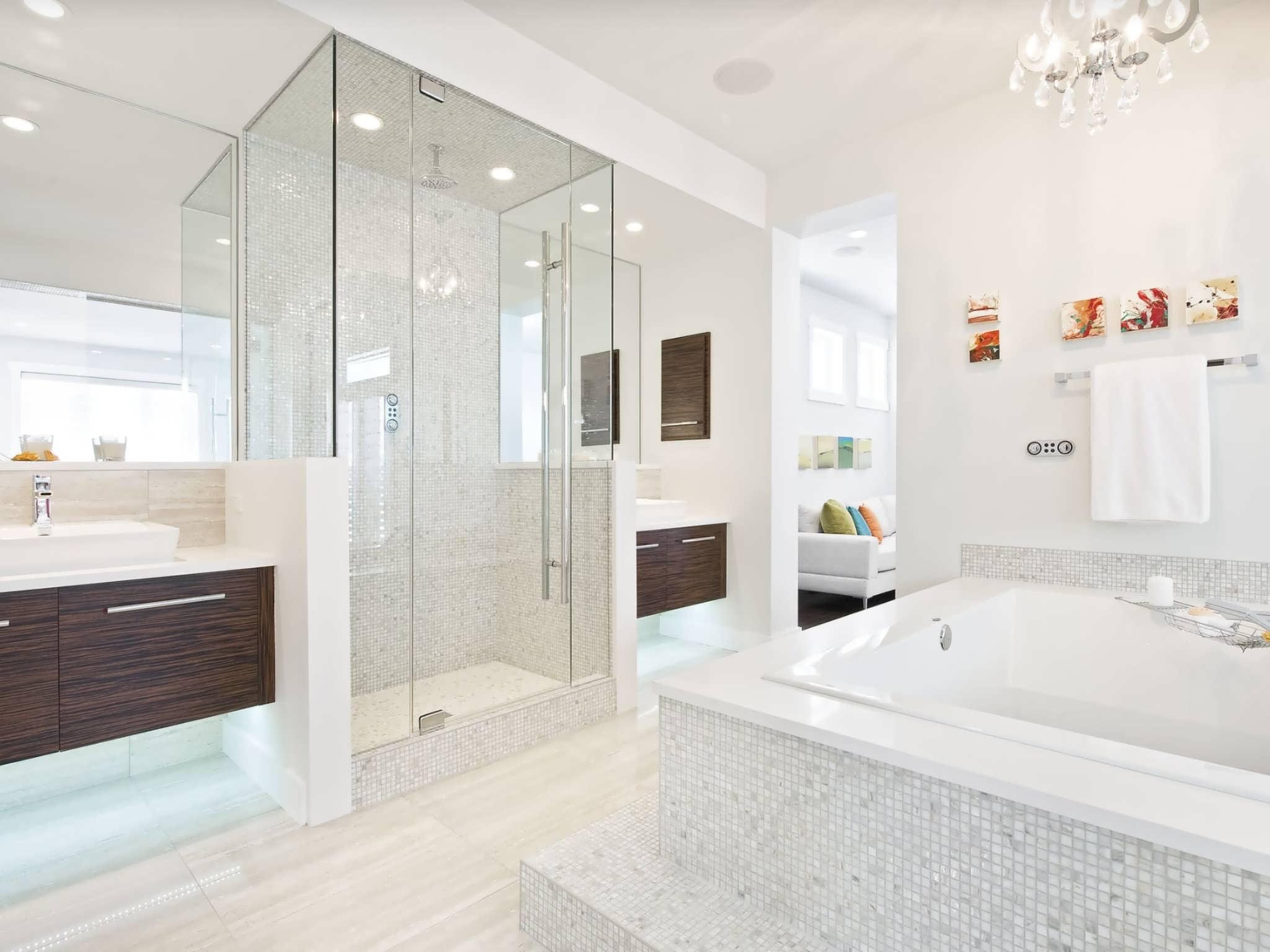 Bagno Con Mosaico Bianco bagno con pavimenti e rivestimenti in mosaico • 100 idee