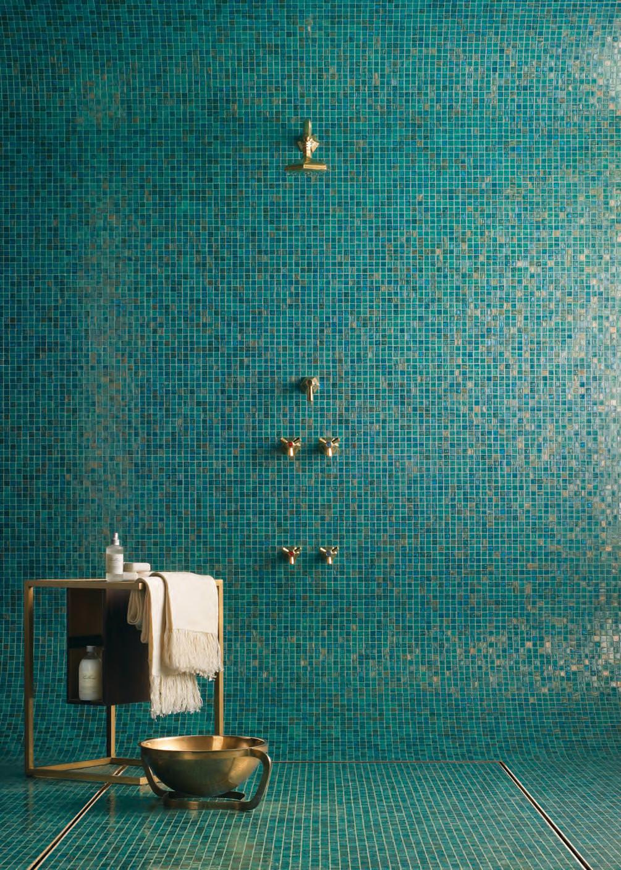 Piastrelle A Mosaico Per Bagno bagno con pavimenti e rivestimenti in mosaico • 100 idee