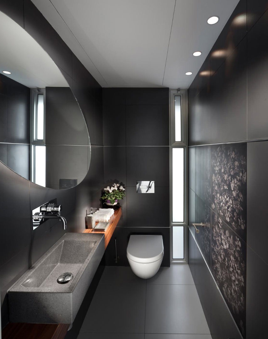 Ristrutturare un bagno stretto e lungo 50 idee e for Elementi bagno