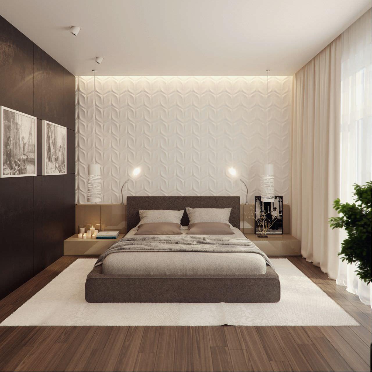 100 idee camere da letto moderne colori illuminazione for Camere da letto