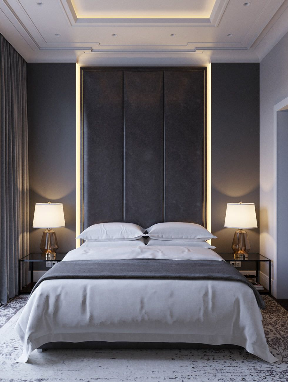 Camera Da Letto Grigia 100 idee camere da letto moderne • colori, illuminazione