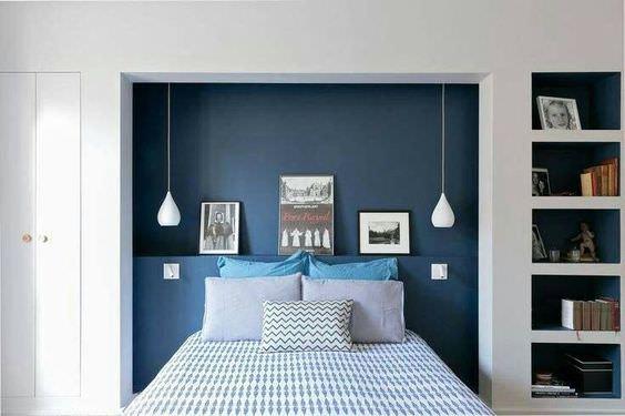 Camera Da Letto Blu : 100 idee camere da letto moderne u2022 colori illuminazione arredo