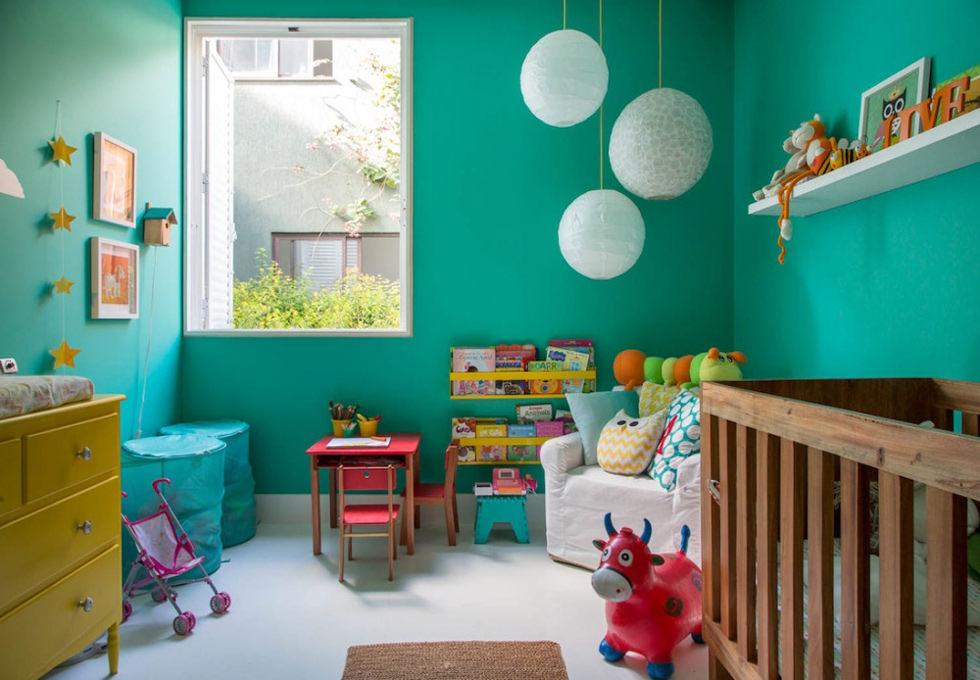 Cameretta dei bambini 70 idee moderne e originali per for Pareti colorate moderne