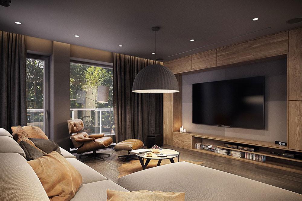 Stupendo appartamento moderno elegante e drammatico for Arredamento soggiorno moderno di lusso