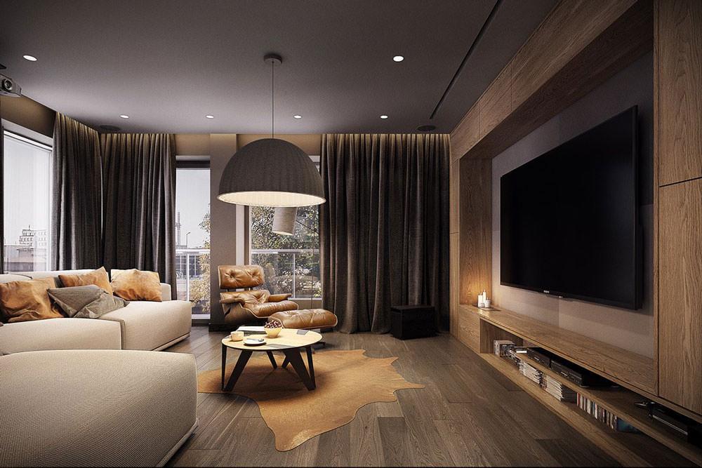 Stupendo appartamento moderno elegante e drammatico for Colori pareti salotto moderno