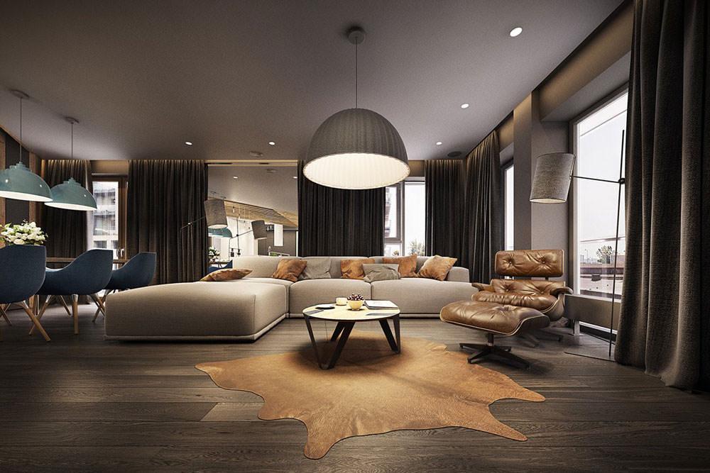 Stupendo appartamento moderno elegante e drammatico for Sala design moderno