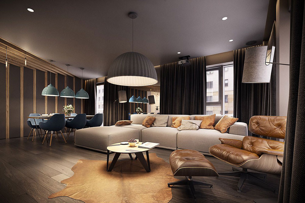 Stupendo appartamento moderno elegante e drammatico for Arredamento case moderne foto