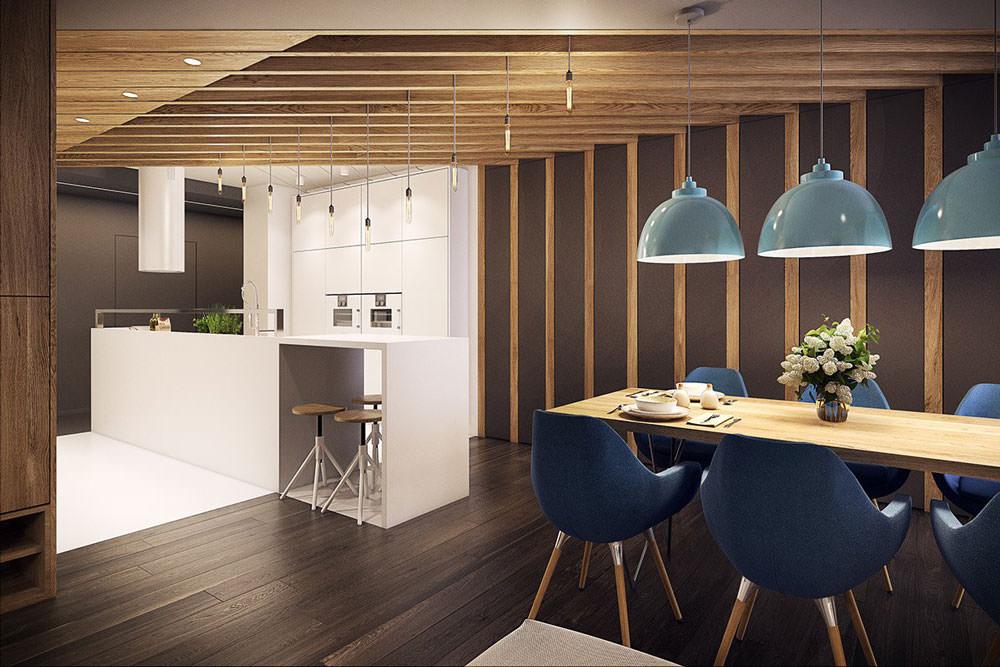 Stupendo appartamento moderno elegante e drammatico for Stanza da pranzo moderna