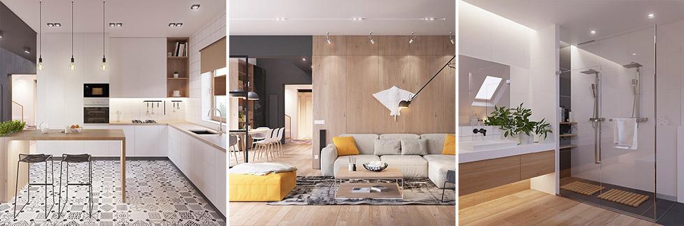 Originale appartamento in stile scandinavo moderno ed for Arredamenti per ingresso appartamento