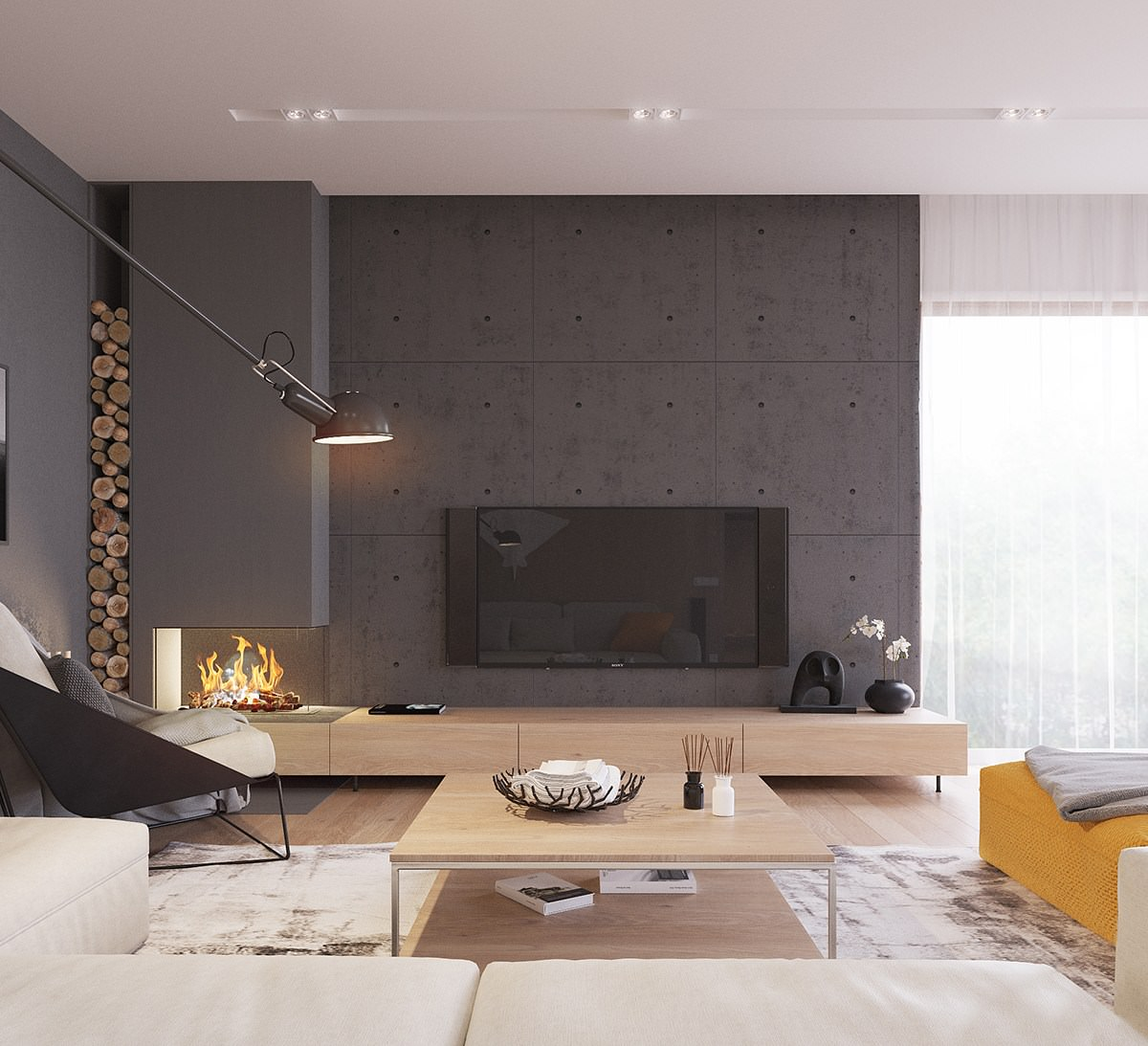 Originale appartamento in stile scandinavo moderno ed for Salotto casa moderna