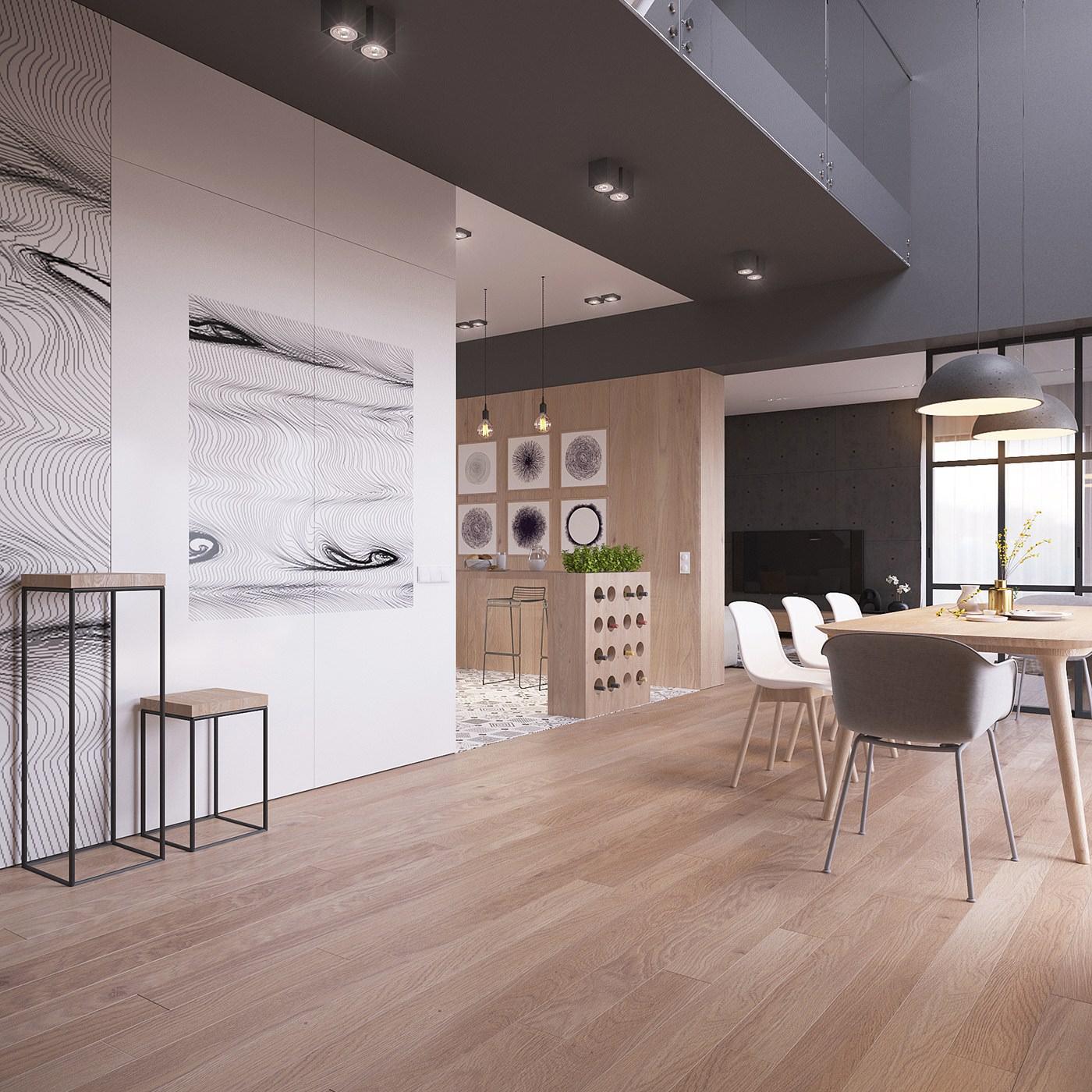 Originale appartamento in stile scandinavo moderno ed for Case bianche moderne