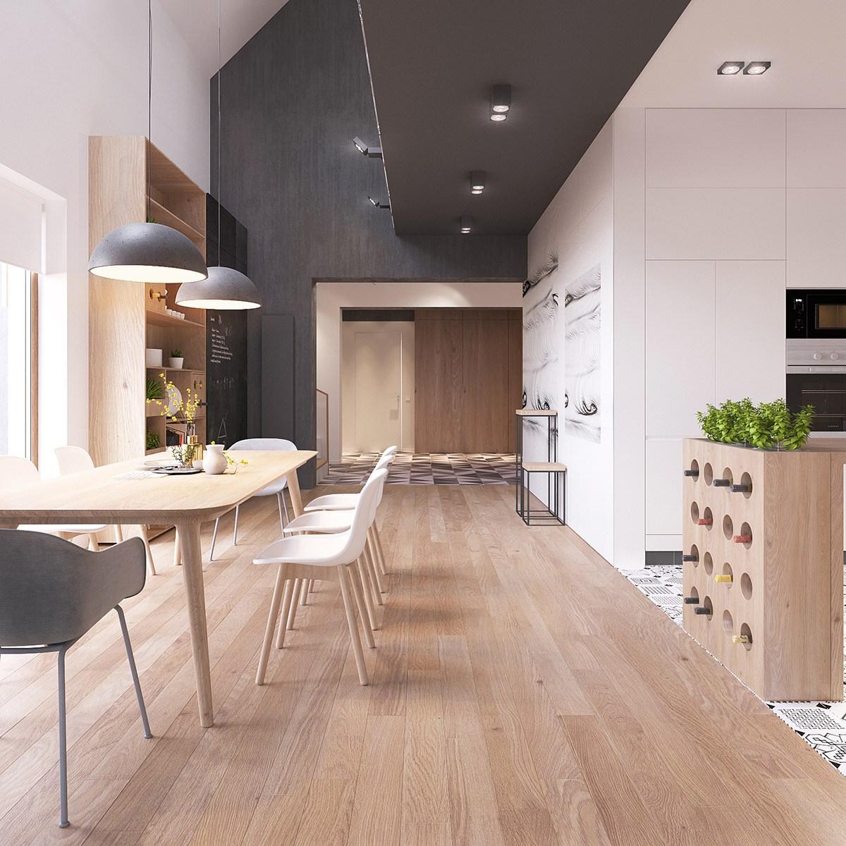 Originale appartamento in stile scandinavo moderno ed ...