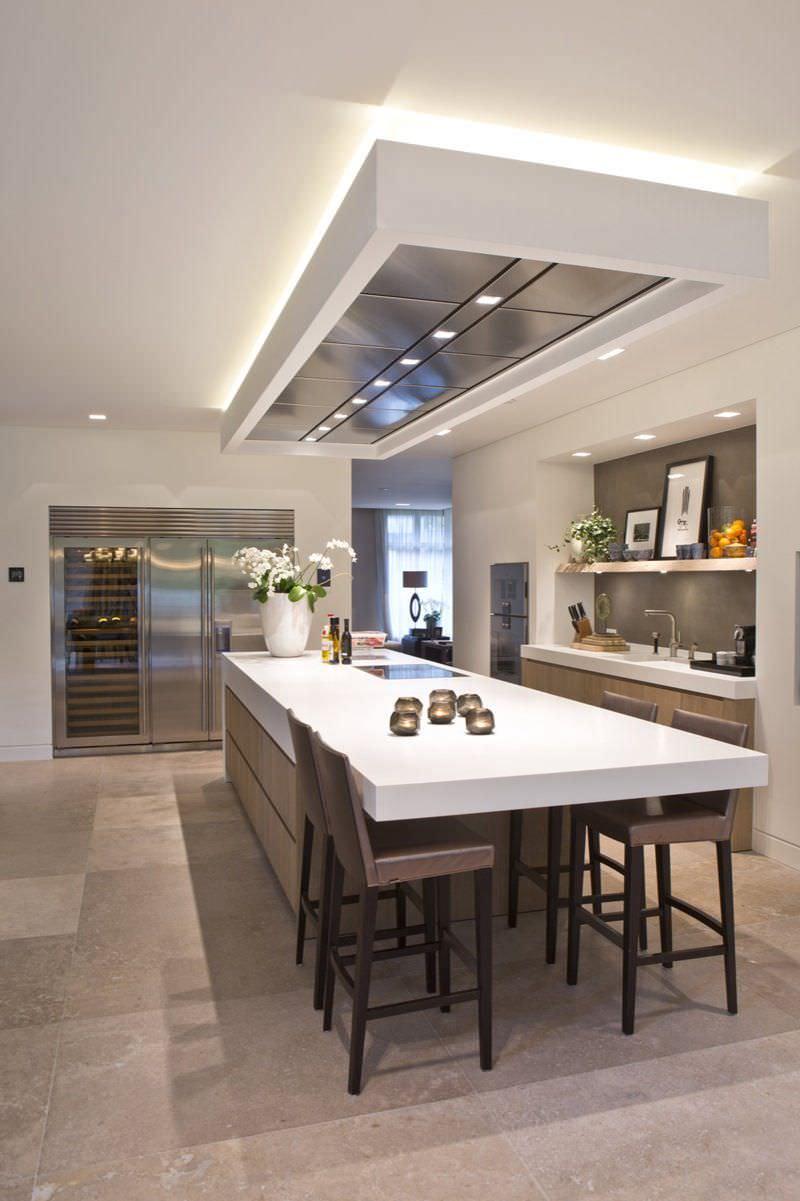 Cucine Moderne Con Tavolo A Scomparsa.100 Idee Cucine Con Isola Soluzioni Moderne E Funzionali Isola