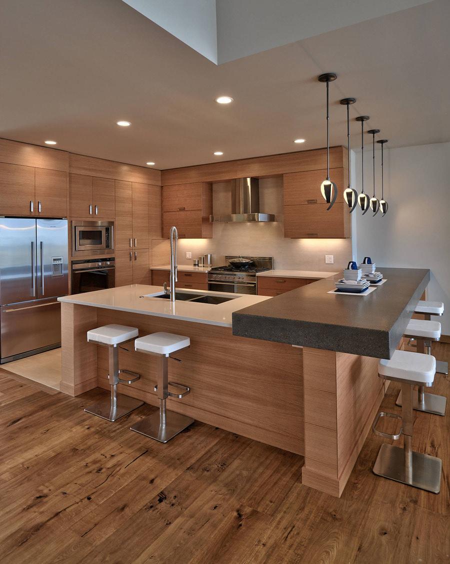 Bancone Legno Cucina.100 Idee Cucine Con Isola Soluzioni Moderne E Funzionali