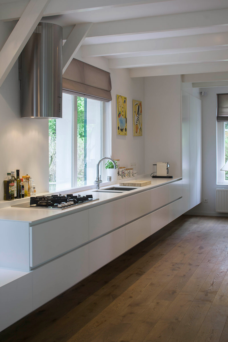 Soffitto Travi A Vista Bianco 100 idee cucine moderne da sogno • con isola, ad u, open