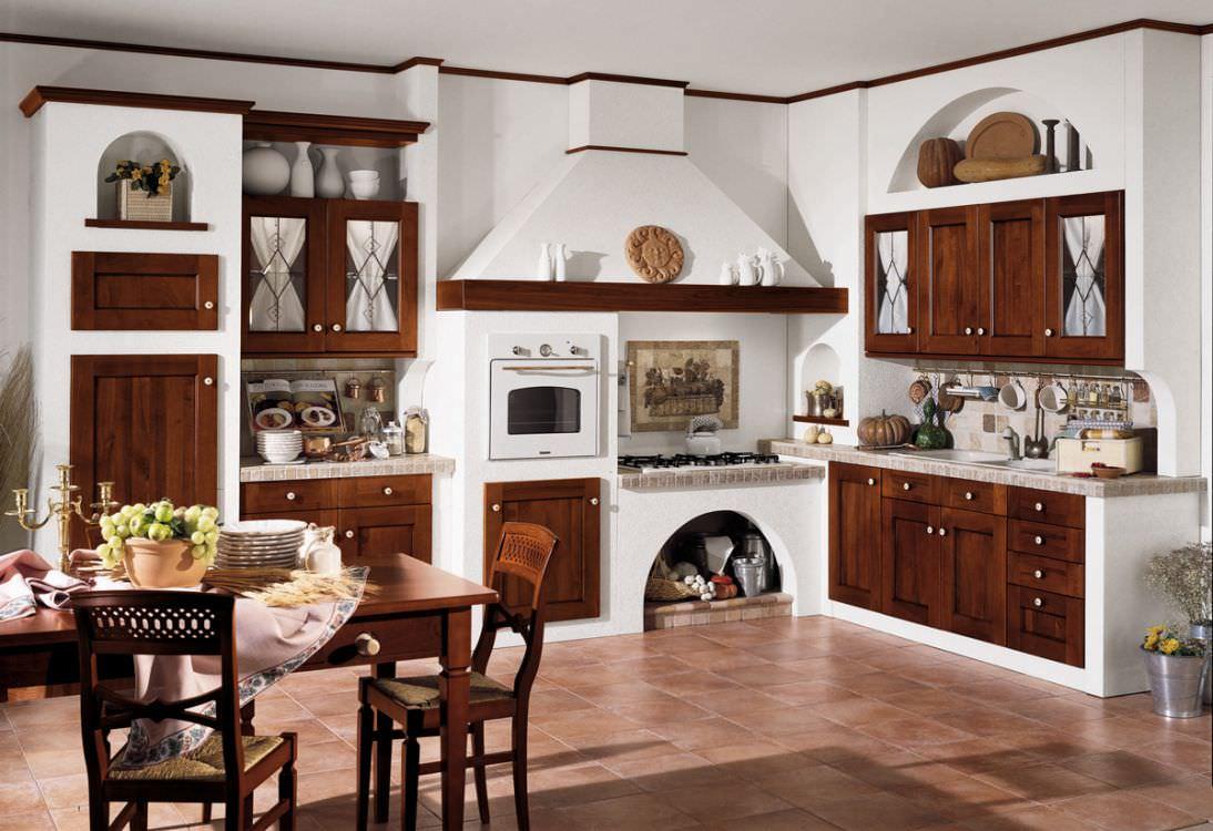 Cucina In Muratura Con Piano Cottura Ad Angolo.Cucina In Muratura 70 Idee Per Cucine Moderne Rustiche