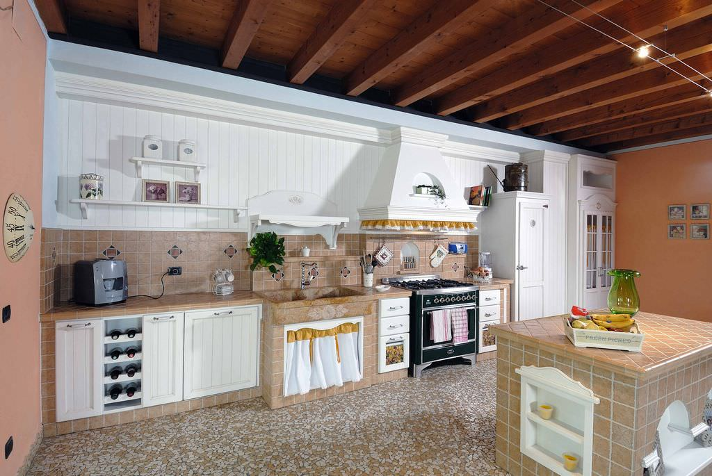 Cucina in muratura 70 idee per cucine moderne rustiche for Programma per comporre cucine