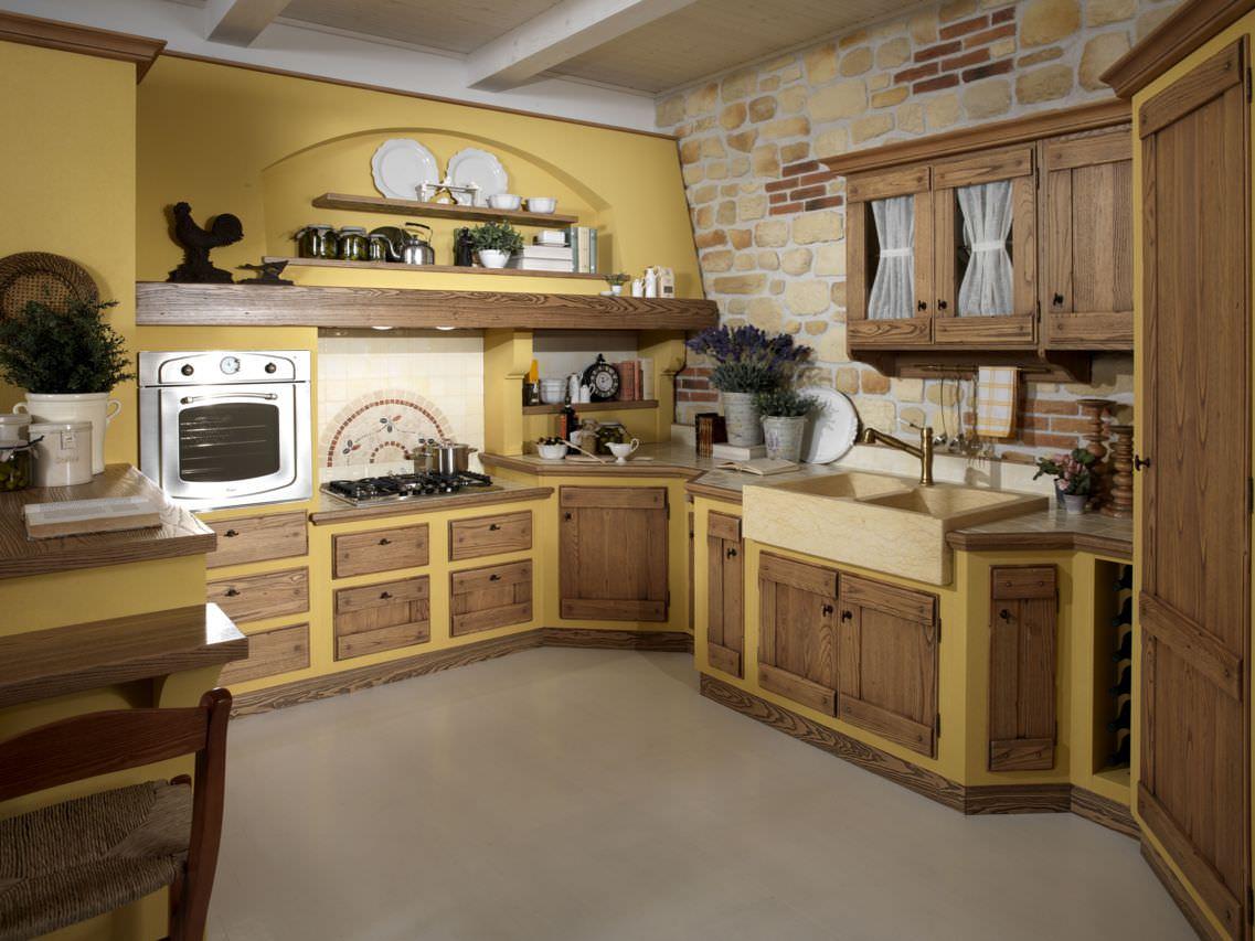Cucina In Muratura 70 Idee Per Cucine Moderne Rustiche