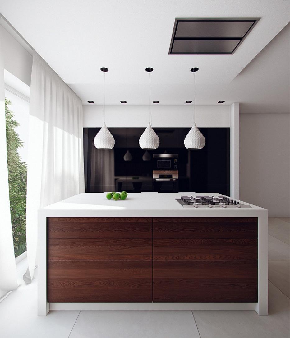 100 idee cucine moderne in legno • Bianche, nere, colorate • Idee ...