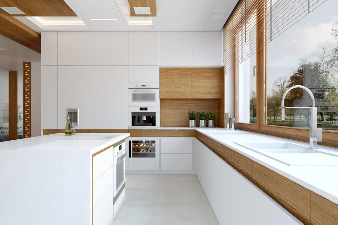 Cucina Moderna Bianca E Legno.100 Idee Cucine Moderne In Legno Bianche Nere Colorate