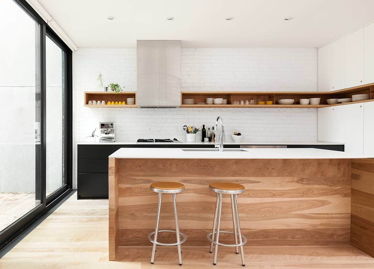 Cucine Moderne Bianche Effetto Legno.100 Idee Cucine Moderne In Legno Bianche Nere Colorate Idee