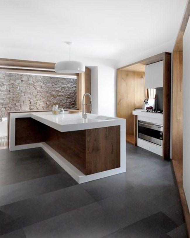 100 idee cucine moderne in legno • Bianche, nere, colorate ...