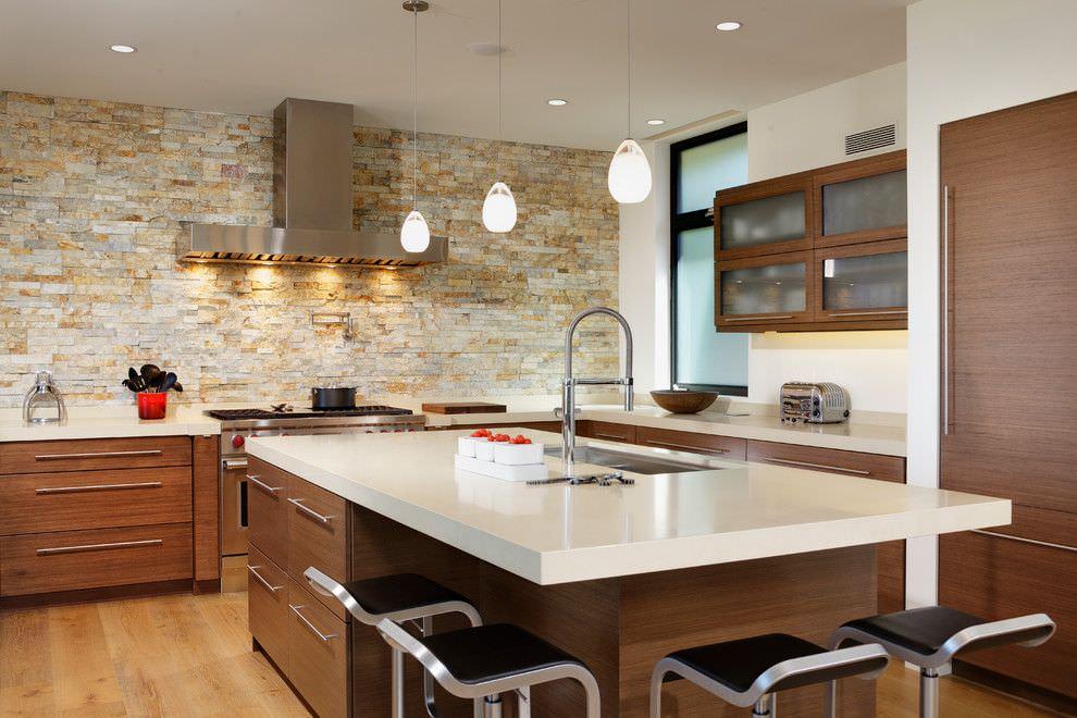 Cucina Moderna In Legno Massiccio Rovere.100 Idee Cucine Moderne In Legno Bianche Nere Colorate
