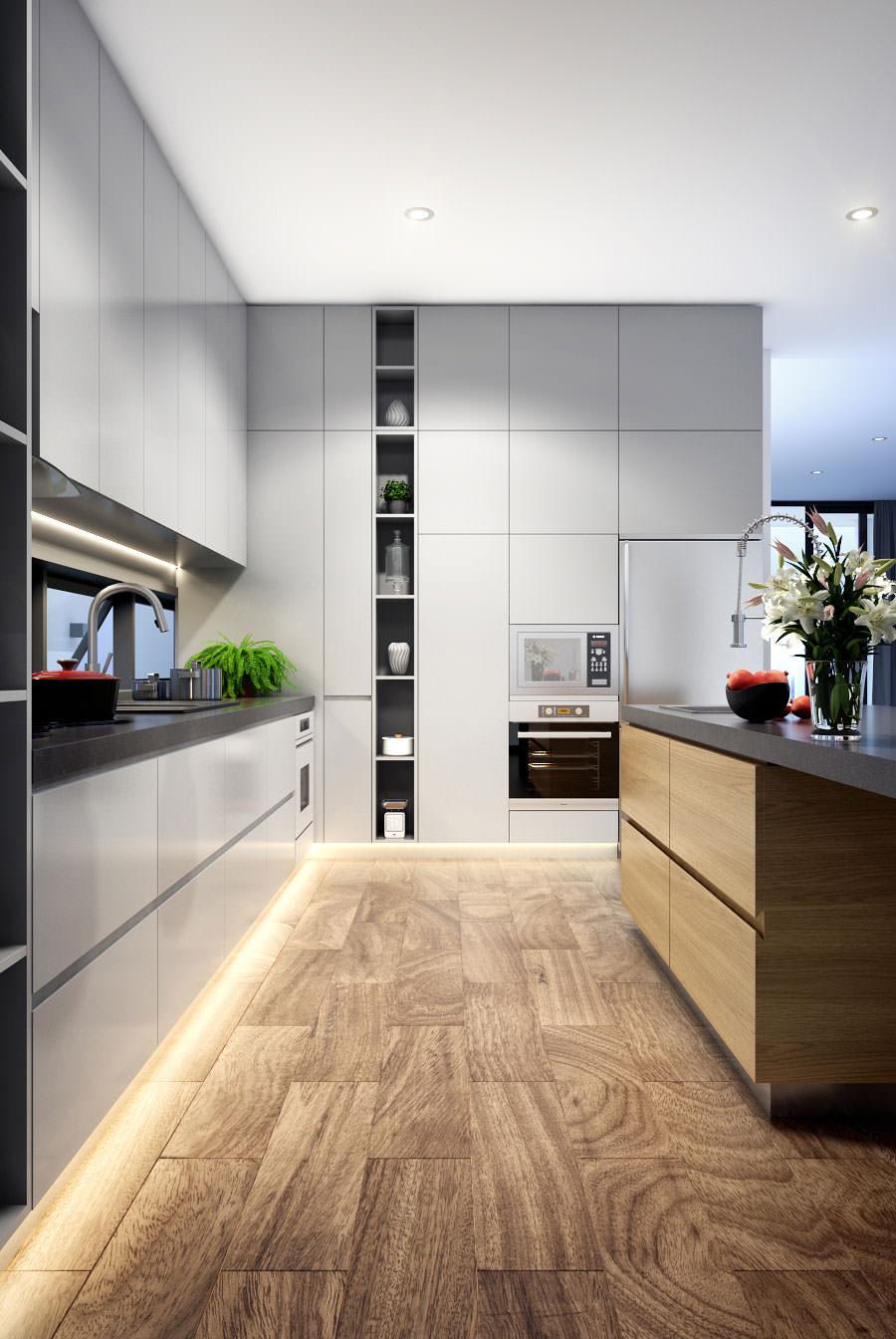Immagini Cucine Moderne Bianche.100 Idee Cucine Moderne In Legno Bianche Nere Colorate Idee