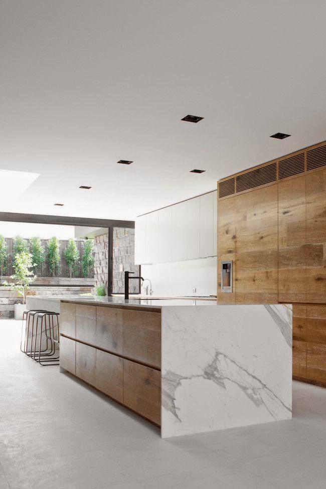 Cucina Moderna Con Tetto In Legno.100 Idee Cucine Moderne In Legno Bianche Nere Colorate Idee