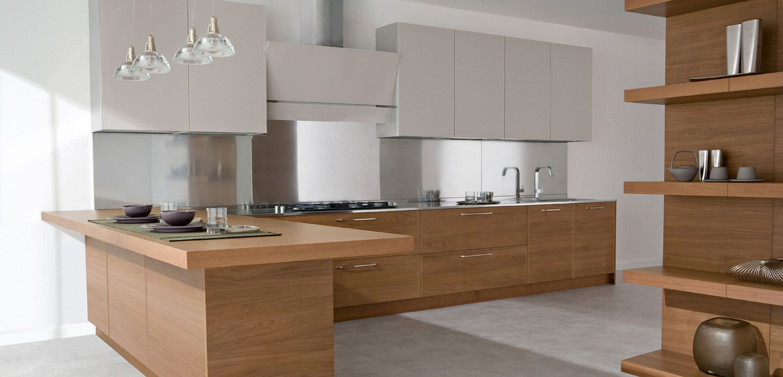Cucine Moderne In Legno Chiaro.100 Idee Cucine Moderne In Legno Bianche Nere Colorate