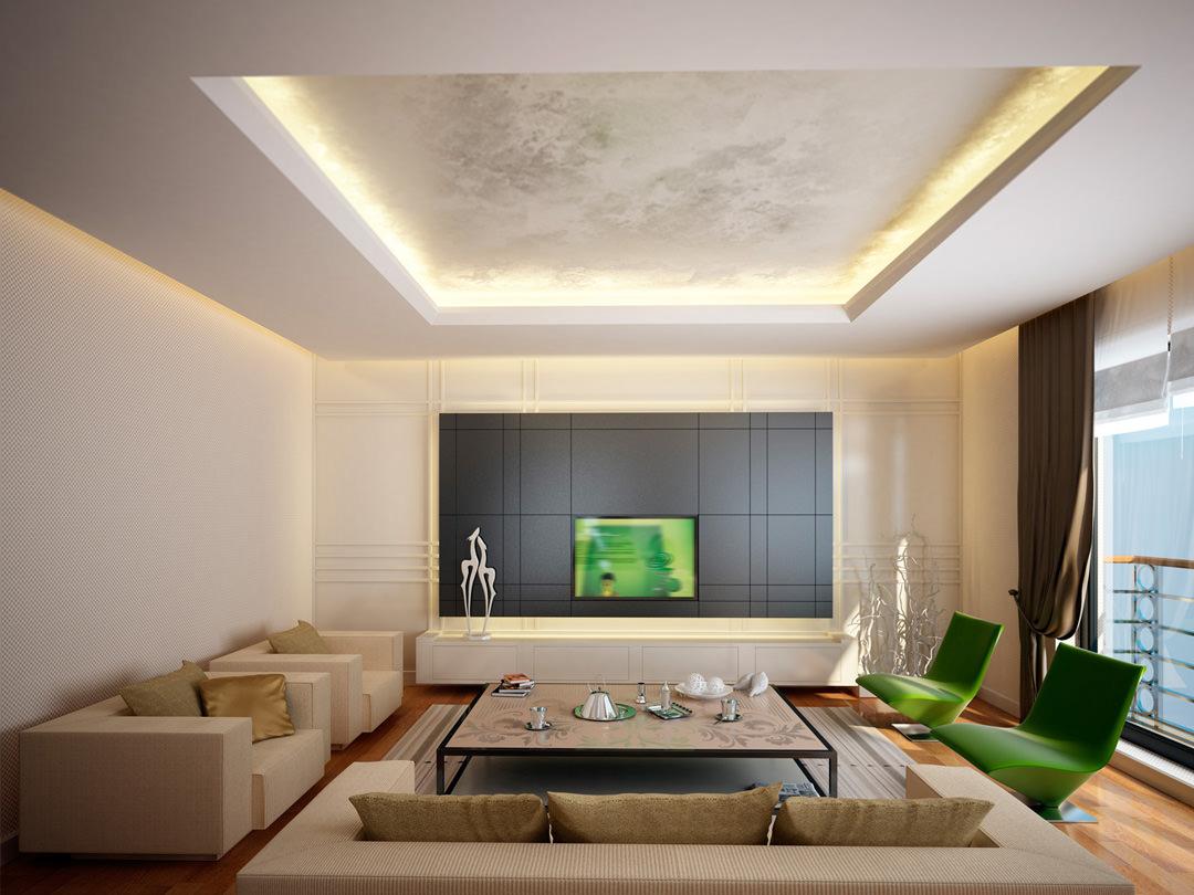 Illuminazione Per Soggiorno Moderno controsoffitti in cartongesso • utilizzo, prezzi e 50 idee