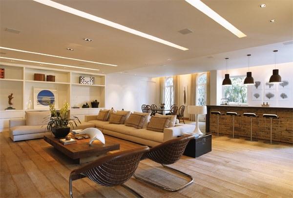 Cucina E Sala Open Space.Controsoffitti In Cartongesso Utilizzo Prezzi E 50 Idee Per Un