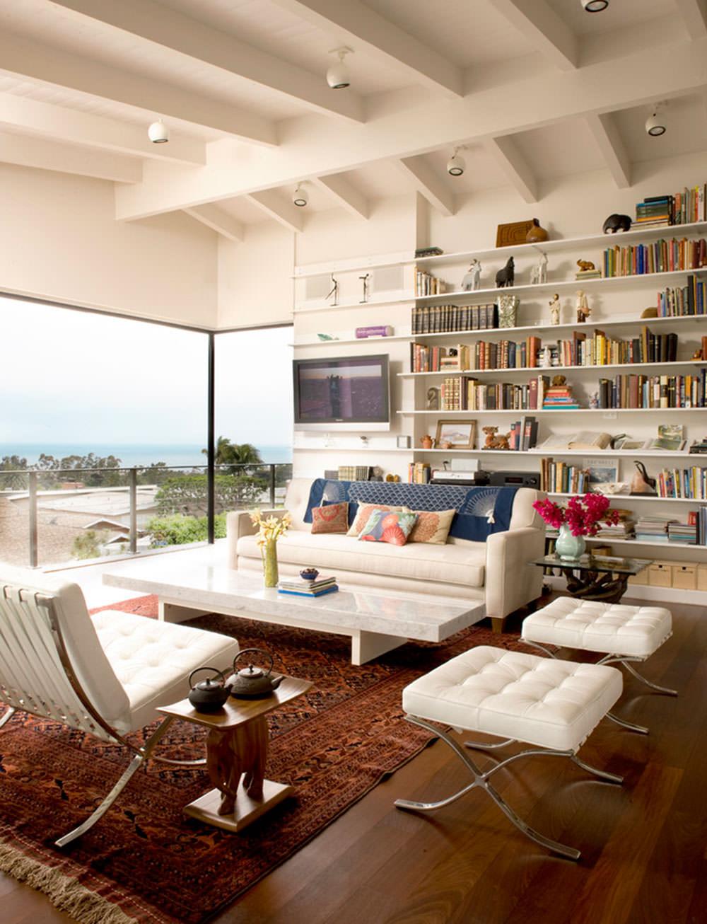 Soffitto Travi A Vista Bianco soffitti decorati • 40 idee per rendere unico il soffitto di