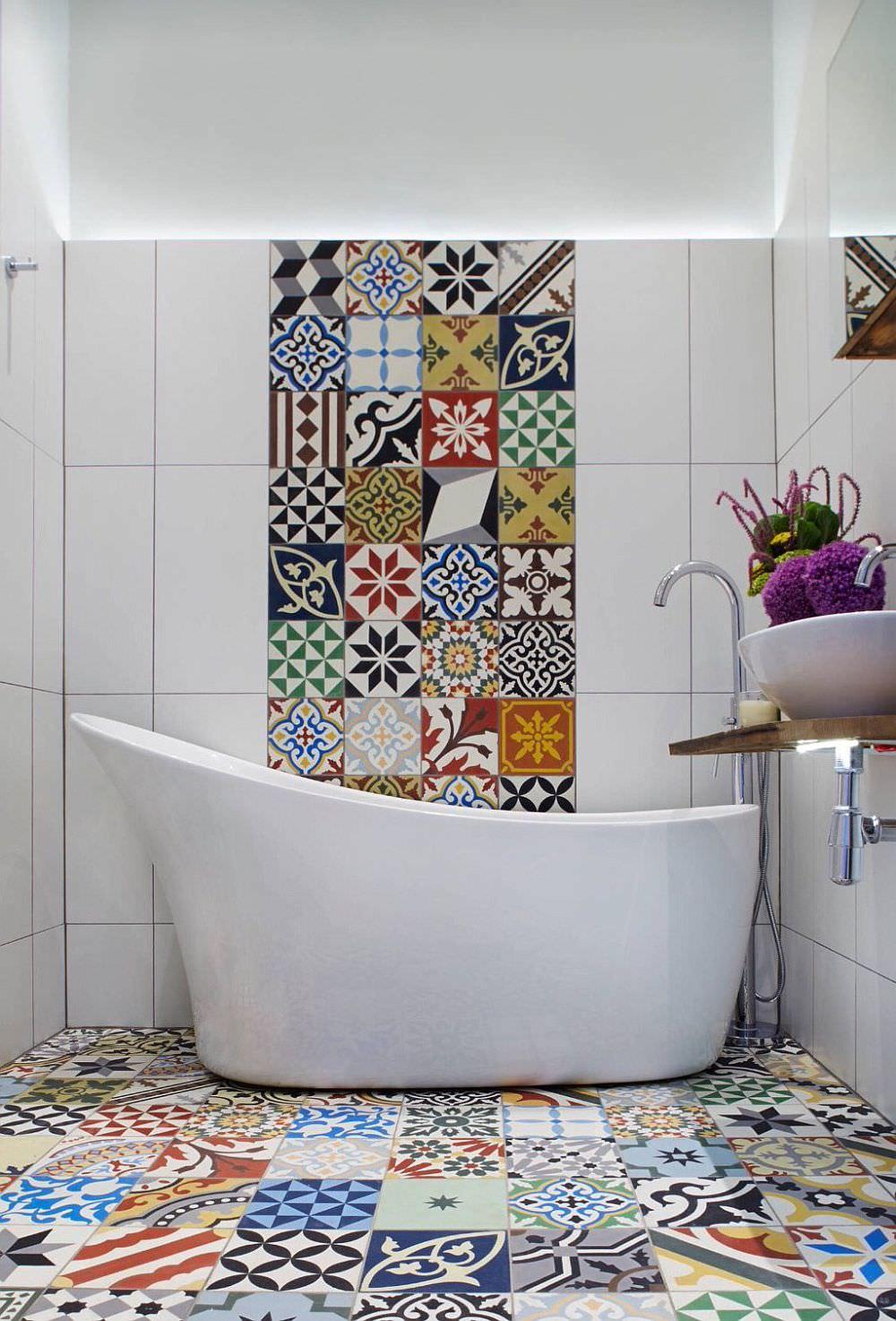 Rivestimento Bagno Con Maioliche 25 idee di piastrelle patchwork per una casa moderna e