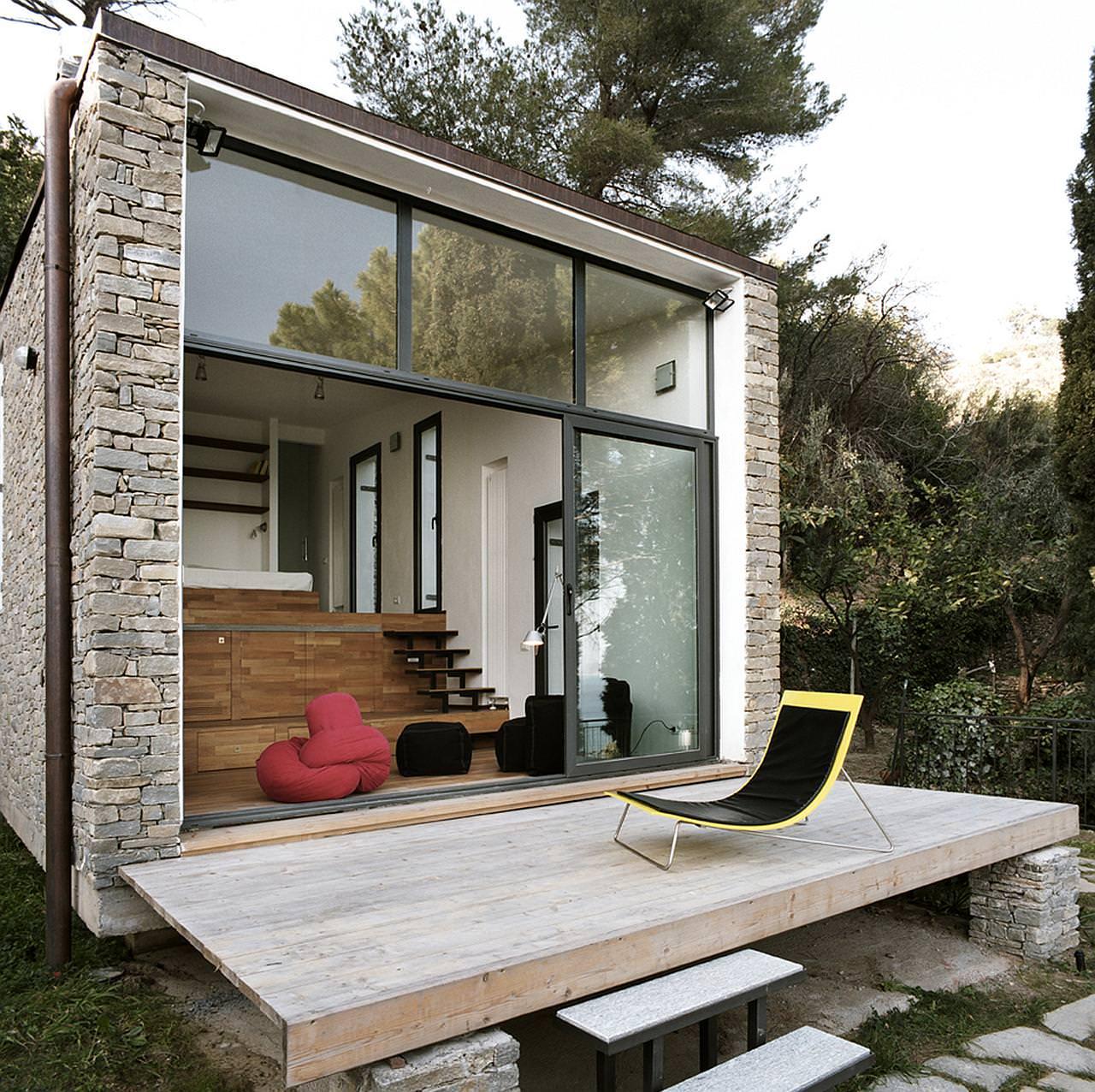 Ristrutturare Appartamento 35 Mq piccola villa a 3 livelli in liguria • mix rustico moderno