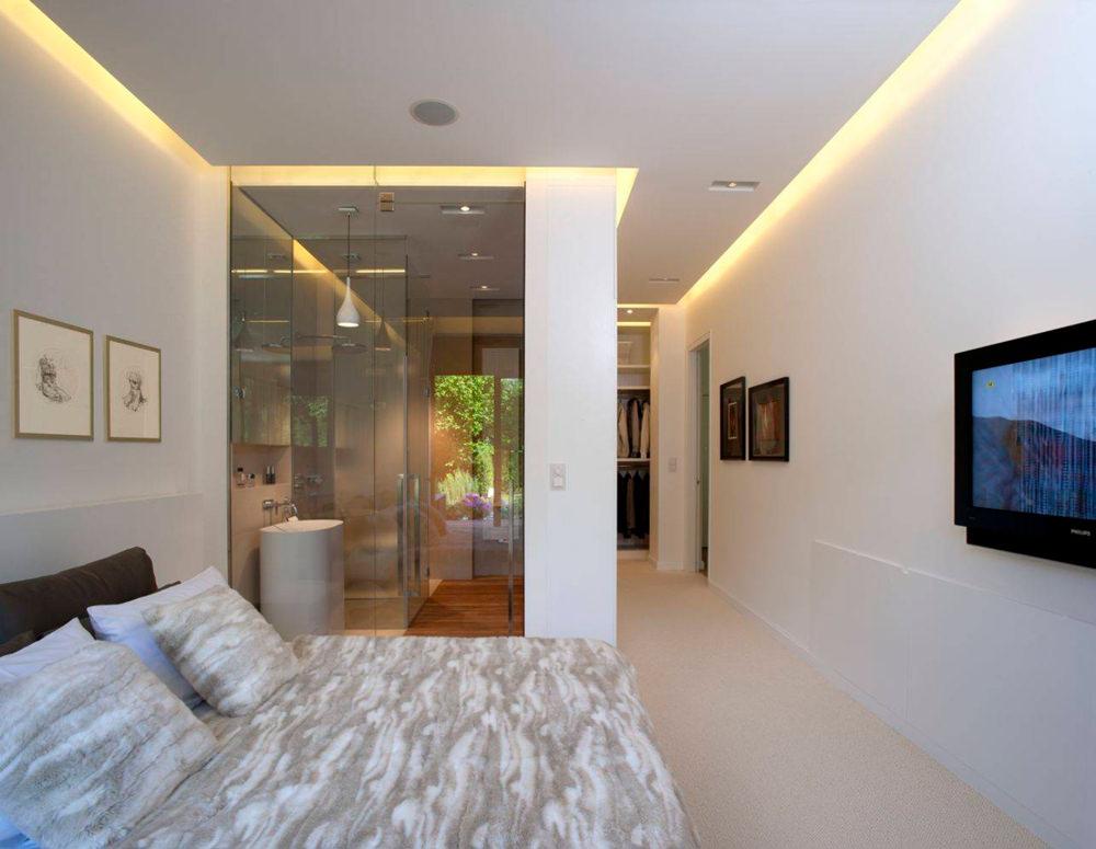 Luce parete camera da letto applique moderno led bagno acciaio