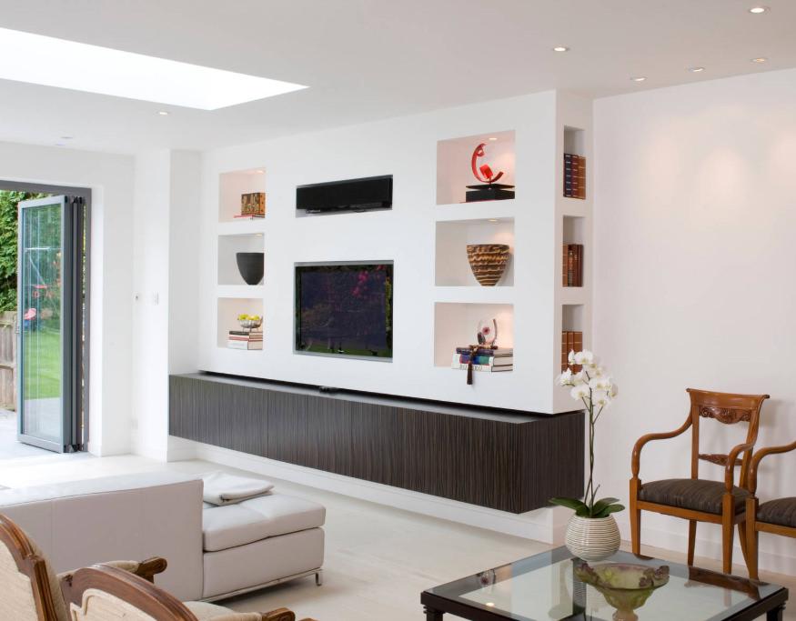 pareti attrezzate stile contemporaneo