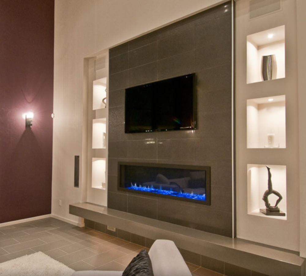 Mensole In Cartongesso Ad Angolo parete attrezzata in cartongesso per il soggiorno • info